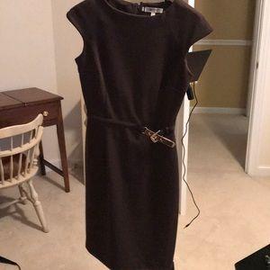 Brown short sleeve all season dress